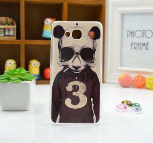 Силиконовый чехол накладка для Xiaomi Redmi 2 с картинкой панда