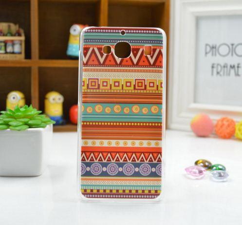 Силиконовый чехол накладка для Xiaomi Redmi 2 с картинкой орнамент