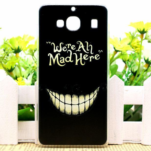 Силиконовый чехол накладка для Xiaomi Redmi 2 с картинкой улыбка