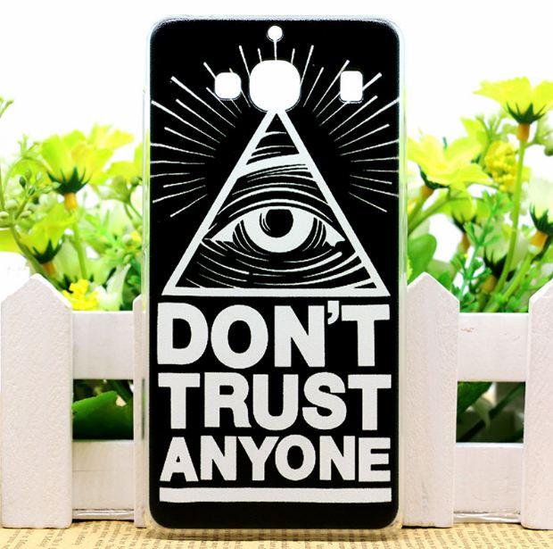 Силиконовый чехол накладка для Xiaomi Redmi 2 с картинкой don't trust anyone