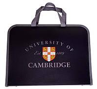 """Папка-портфель на молнии с тканевыми ручками """"Cambridge"""" 491063"""