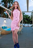 Замшевое платье  нежно-розового цвета