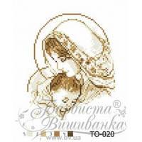 "Картина бисером""Мария с младенцем"" коричневая 20*25"