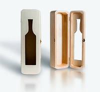 Футляр деревянный для одной бутылки с прорезью