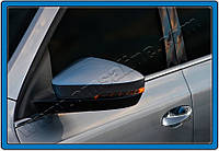 Skoda Fabia 2014 накладки на зеркала нержавейка