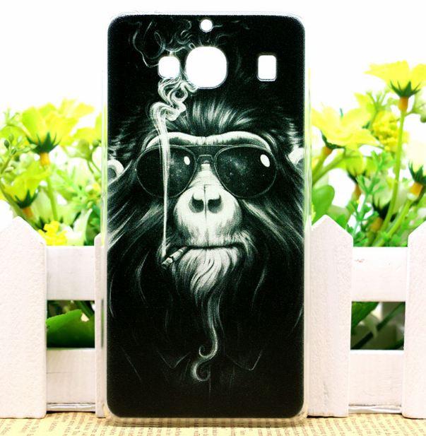 Силіконовий чохол накладка для Xiaomi Redmi 2 з картинкою мавпа