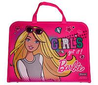 """Папка-портфель на молнии с тканевыми ручками """"Barbie"""" 491057"""