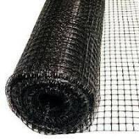 Сетка вольерная / сітка для огородження 1,5х20м (для птичников) ячейка 10х10мм (черная)