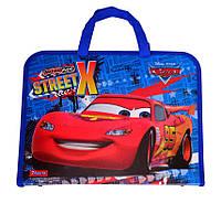 """Папка-портфель на молнии с тканевыми ручками """"Cars"""" 491065"""