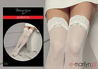 Свадебные чулки на силиконе Marilyn GUCCI G16 15den