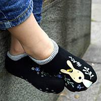 Детские носки антискользящие Le Sucre черные с серой резинкой, фото 1