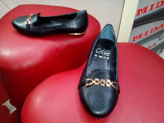 Туфли кожаные черные OLLI, фото 2