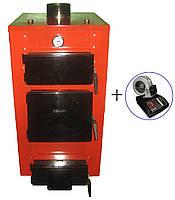 Бытовой твердотопливный котёл мощностью 12 кВт HT-UKS (с автоматикой)