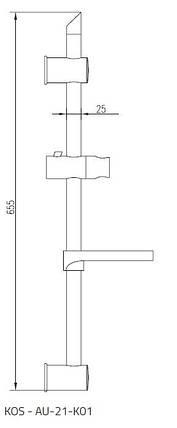 Душевая штанга Invena Kos AU-21-K01, фото 2