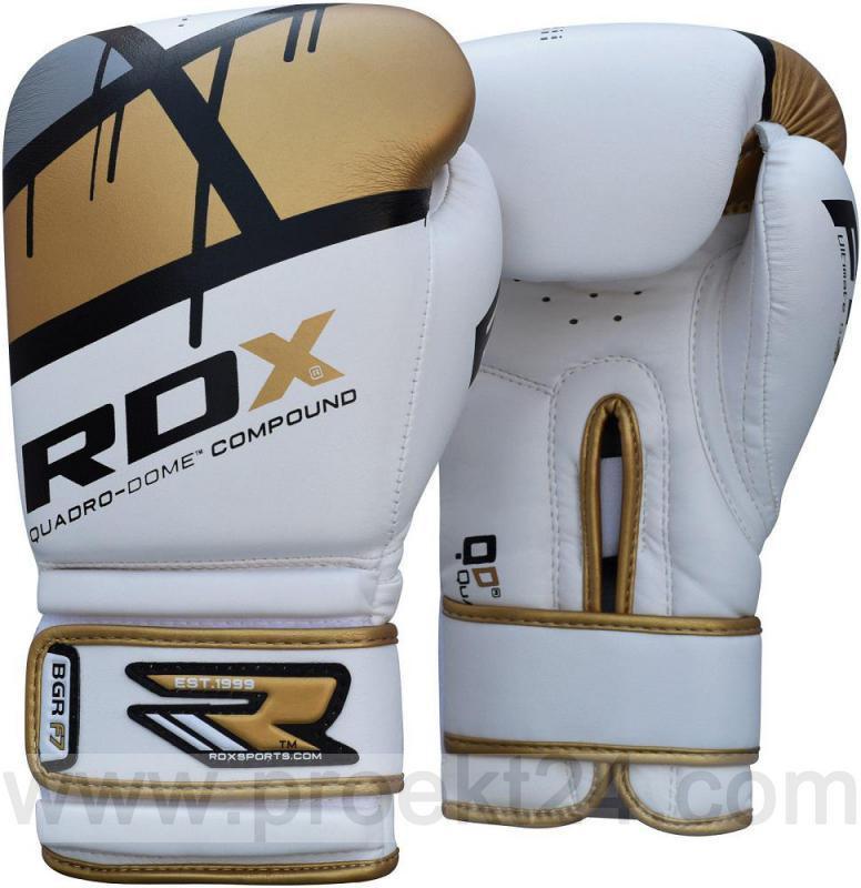 Боксерские перчатки RDX Rex Leather Gold-12 oz