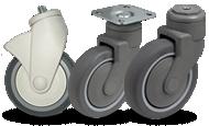 Пластиковые аппаратные колеса и ролики