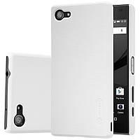 Чехол Nillkin для Sony Xperia Z5 Compact белый (+плёнка)