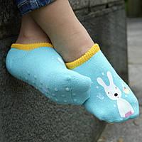 Детские носки антискользящие Le Sucre Бирюзовые с желтой резинкой, фото 1