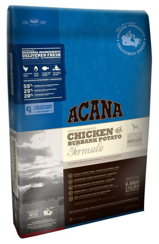 Корм для собак Acana Adult Chiken & Burbank Potato