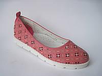 Детские летние туфли для девочки, стелька кожаная с супинатором, р. 30-37