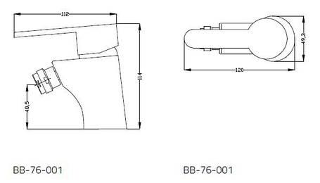 Смеситель для биде Invena Natea BB-76-001, фото 2