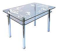 Стол стеклянный КС-1 пескоструй