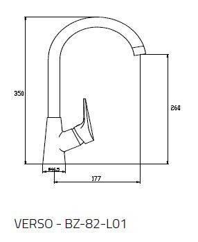 Смеситель для кухни Invena Verso BZ-82-L01, фото 2