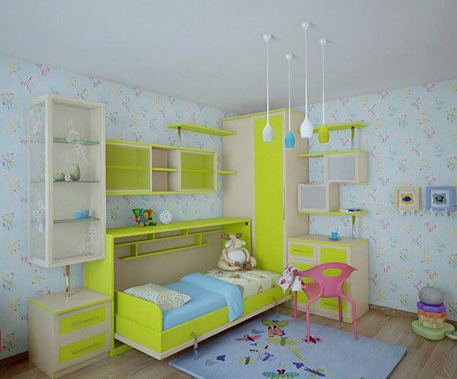 Комплект мебели с откидной кроватью в детскую, фото 1