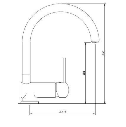 Смеситель для кухни Invena Axos Exe BZ-97-001, фото 2