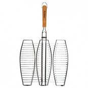 Решетка плоская для рыбы тройная (65см 40х36)