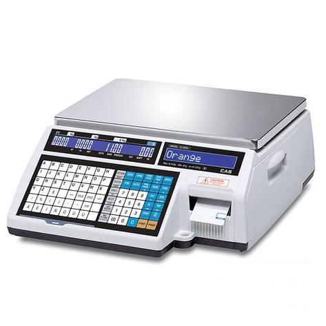 Весы торговые CAS CL5000J-IB 30 кг с термопечатью, фото 2