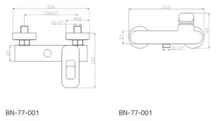 Смеситель для душа Invena Uniqua Exe BN-77-001, фото 2