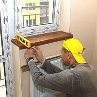 Установка деревянных подоконников