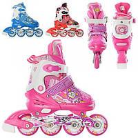 Детские ролики Profi Roller A 3066 M  раздвижные, 3 цвета
