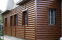 """Металлический сайдинг """"Сруб деревянный"""" Блок-хаус"""