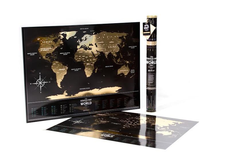 Скретч карта World 1DEA.ME Travel Map ''Black' '(на английском языке)  (тубус)