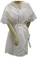 """Халат """"кимоно"""" одноразовый на завязках, белый цвет, универсальный размер, 10шт"""