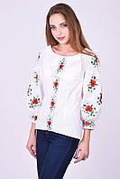 Блуза  с богато расшитыми маками , фото 1