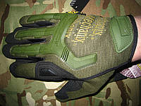 Тактические перчатки Mechanix M-Pact, олива, реплика.