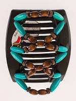Заколка для густых волос African butterfly Beada 009  черная