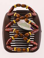 Гребешки для волос African butterfly Beada 010 коричневая