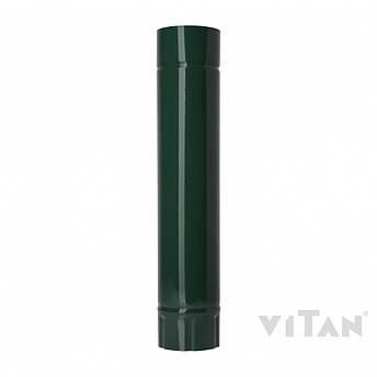 Труба водосточная металлическая зеленая 0,5 метра