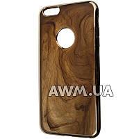 Силиконовый чехол накладка Ou case для Apple iPhone 6 Plus / 6S Plus коричневый мрамор