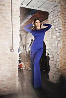 Элегантное синее платье в пол с открытой спинкой. Арт-5545/54