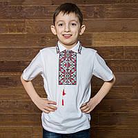 Вышитая футболка в школу, фото 1