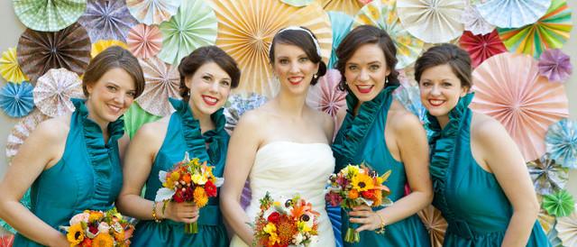 веера вертушки для свадебного декора