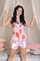 Красивый женский спальный комплект с шортиками