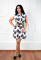 """Нарядное короткое платье """"057"""" белый 44,46,48 (Н.И.К.)"""