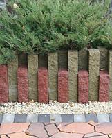 Cтолбик колотый 250/100/60 цвет на сером цементе