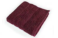 Полотенце 50х90 хлопок 100%, Irya Classis Bordeaux бордовый